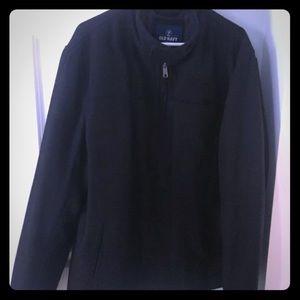 Old Navy Wool Blend Zip Up Jacket Mens XL Black.
